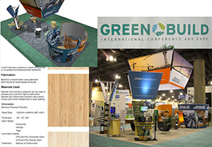 Materials used for a green design and build project