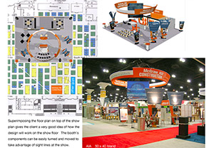 Booth selection and trade show consulting work for McGraw Hill